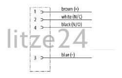 M12-Flanschbuchse, Kabelbelegung