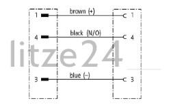 Geberkabel, M12-Stecker auf M12-Buchse, Kabelbelegung