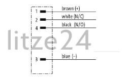 Geberkabel, M12-Stecker, Kabelbelegung