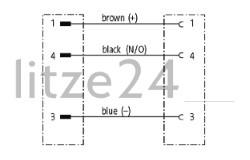 Geberkabel, M8-Buchse auf M8-Stecker, Kabelbelegung