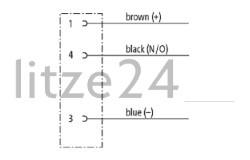 Geberkabel, M8-Buchse, Kabelbelegung
