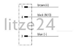 Geberkabel, M8-Stecker, PINBELEGUNG